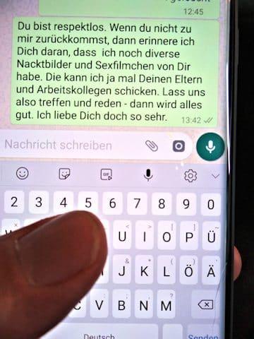 Erpressung Nötigung Stalking Nachstellen WhatsApp Messenger