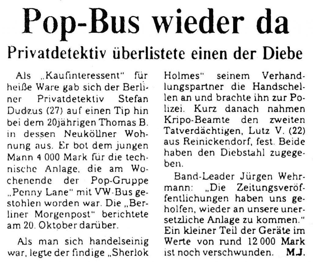 Diebe in Berlin von Privatdetektiv Stefan Dudzus festgenommen.