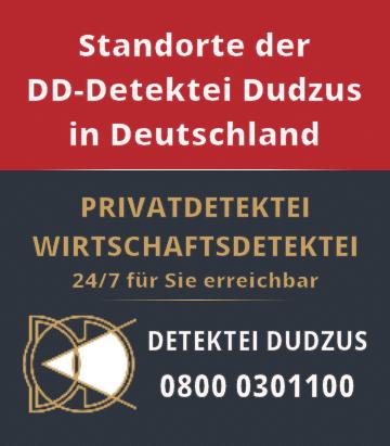 Standorte der Detetei Dudzus in Deutschland