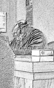 Peter M. im Amtsgericht Neuruppin